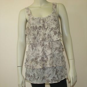 Lane Bryant Floral Print Top w/Sequins & Beads 14